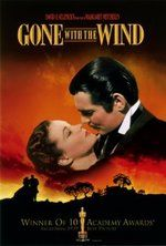 """""""Gone With the Wind"""" (1939) - This classic stars Vivian Leigh as Scarlett O'Hara and Clark Gable as Rhett Butler in the Civil War south."""