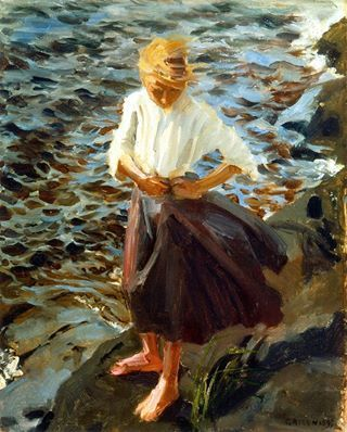 Akseli Gallen-Kallela. Windswept Girl. 1893