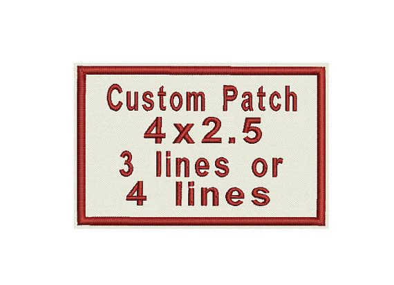 Custom Embroidered Patch Tag Badge Shield Personalize it