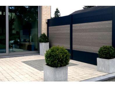 Tuinhout :: Tuinschermen / Deuren :: Aluminium / Composiet :: IdeAL | 9x Fiberon Horizon Caslte Gray - Lek Tuinmaterialen