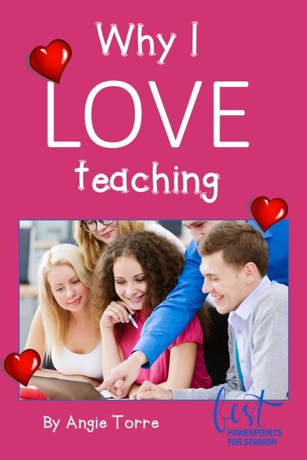 """Why I love teaching by Angie Torre.  Teaching isn't easy.  Some of the many challenges are ten-to-twelve hour days, politics, enabling parents, long lines to the one-stall bathroom, the """"duty-free"""" lunch....."""