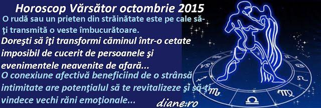 diane.ro: Horoscop Vărsător octombrie 2015