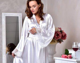 info pour 162f2 11ae5 Clair Ivoire robe de mariée longue mariage kimono dentelle ...