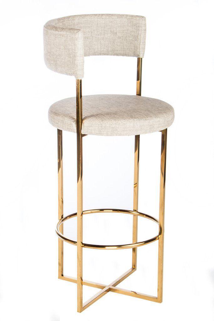 gold bar stool