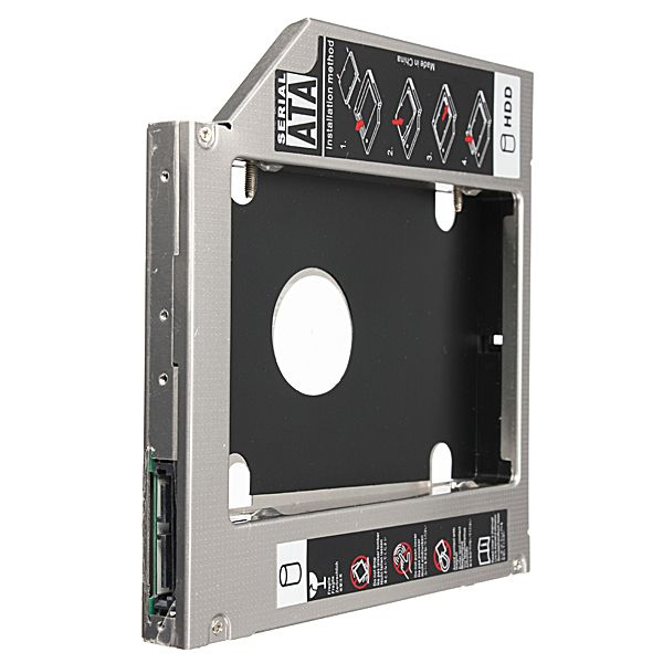 SATA to SATA 2nd HDD Hard Driver Caddy for 12.7mm Universal CD/DVD-ROM