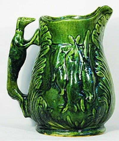 Luke Adams jug with dog handle from the collection of Manos