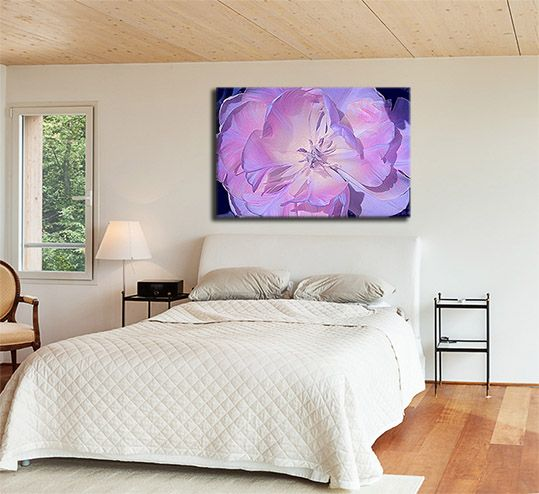Purple Tulip stretched canvas prints.