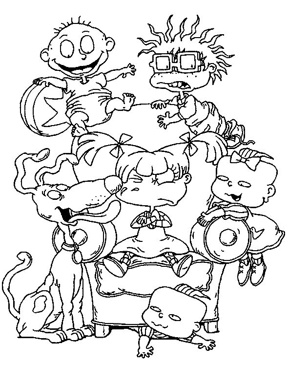 27 best Rugrats Coloring Pages images on Pinterest | Coloring sheets ...