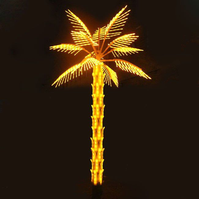 Decorative Light Up Palm Tree Outdoor, Outdoor Led Palm Tree