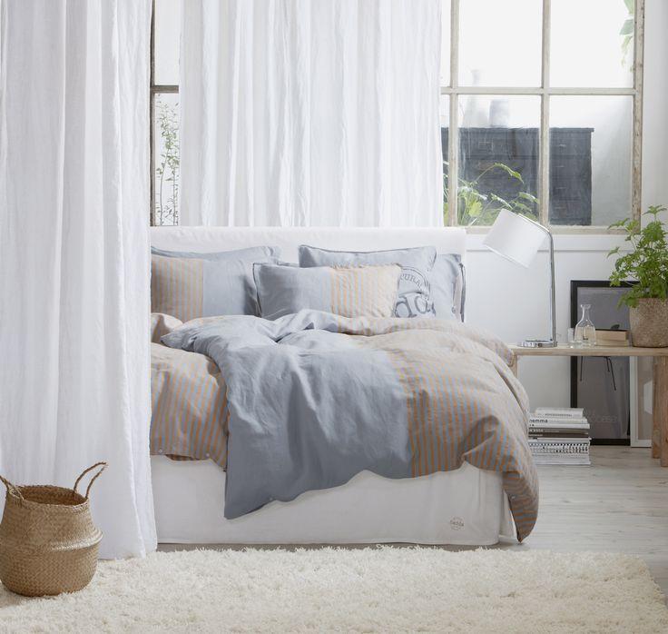 Tvåfärgade HEDDA i rena naturmaterial, har plaggtvättas för att bli extra mjukt #linne #bomull #