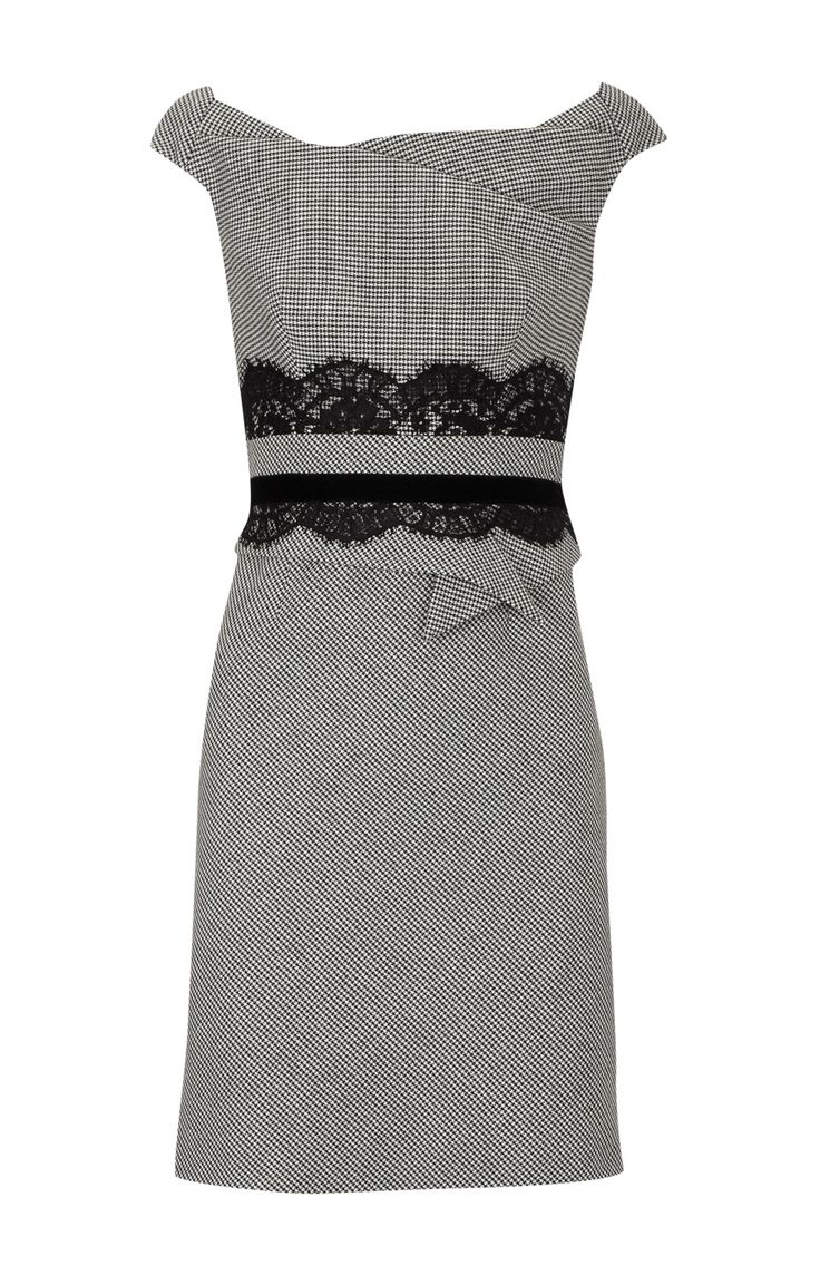 Karen Millen >> so pretty! Looks a lot like our dapper invitation too! http://www.etsy.com/listing/58525784/25-dapper-invitation-ensemble-vintage: Black Lace, Karen O'Neil, Trim Tailored, Tailored Dresses, Style, Clothing, Karen Millen, Millen Lace, Lace Trim