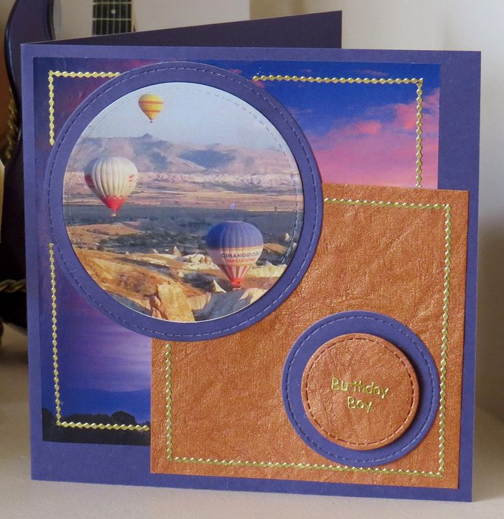 Hot air balloons from magazine, cut with circle dies.
