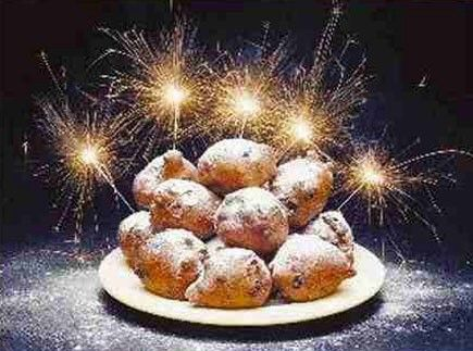 The Dutch serve doughnuts or fritters for breakfast or snacks on New years eve and New years day