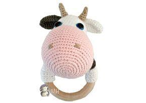 gratis free:Mordedor Vaca a Crochet Patrón Gratis PATRÓN MORDEDOR VACA A CROCHET Está hecho en espiral para lo que necesitaremos un marcador de vueltas (lo ponemos en el último punto de cada vuelta).