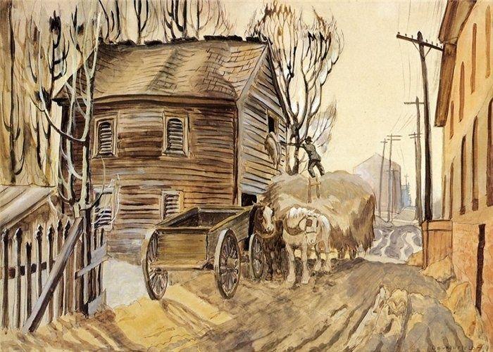 "Charles Burchfield ""The Haymow, Salem"", 1920 (USA, American Scene Painting, 20th cent.)"