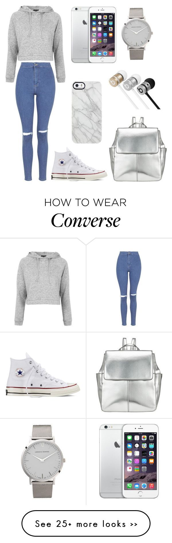 """Back to School in Style #2"" by stephanie-rozek-paris on Polyvore featuring Topshop, Converse, Larsson & Jennings, Kin by John Lewis, Beats by Dr. Dre and Uncommon"