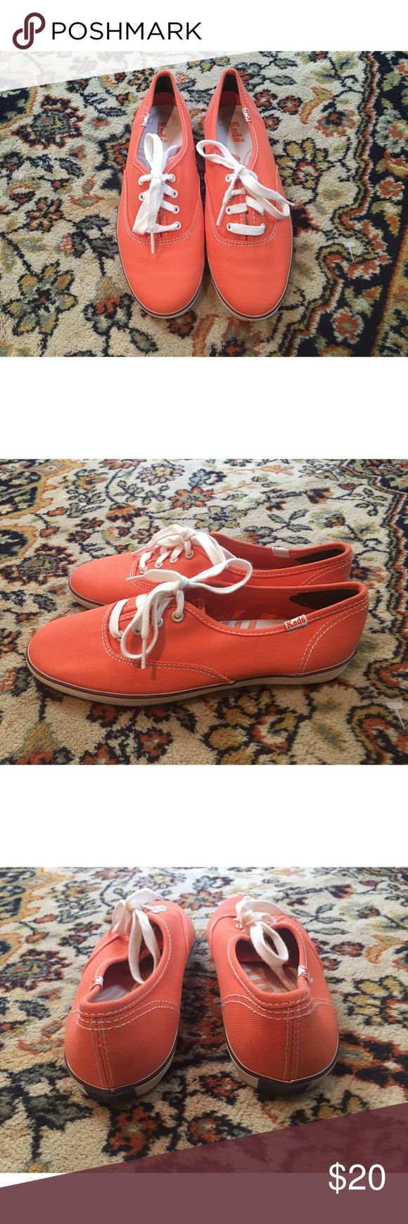 NEW Keds Tennis Shoes Orange Women's Size 6.5 🔥 New Without Box! Size 6.5 Classic Keds Tennis Shoes in Peachy Orange 🌿🌻 Urban Outfitters Shoes