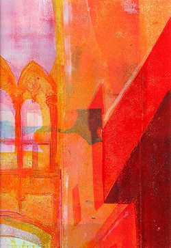 Jeannie Clark. Gothic  Spain                           8x5.5ins approx unframed Medium : oils mixed media