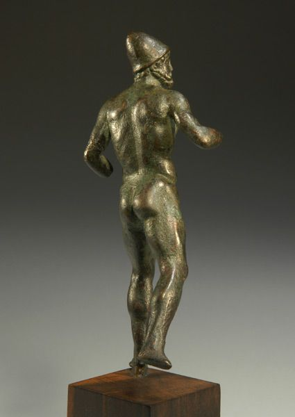Early Imperial Roman bronze nude depicting Odysseus Fleeing