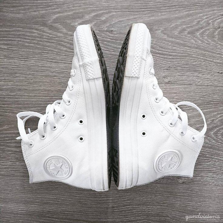 White leather Converse. | qandvictoria.wordpress.com