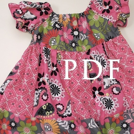 Elizabeth Claire Peasant Dress- making this dress for both granddaughters in Christmas fabrics...cute and so easy.