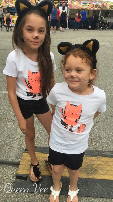 Cat & Jack Halloween Tshirts From Target And Cat Ears From Target, Pumpkin Patch Outfits For Halloween 2016