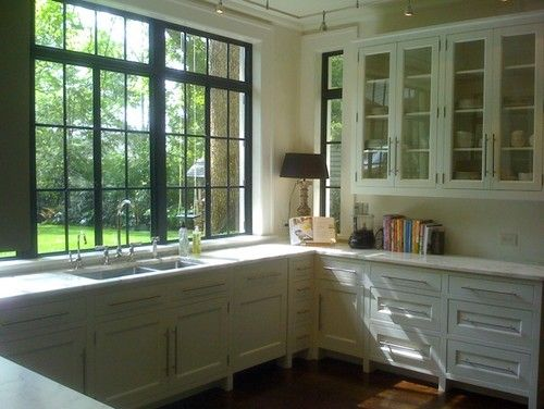 Black Interior Windows Design Pictures Remodel Decor And Ideas Page 12 Dream Home In 2019 Window Frames Kitchen Bar