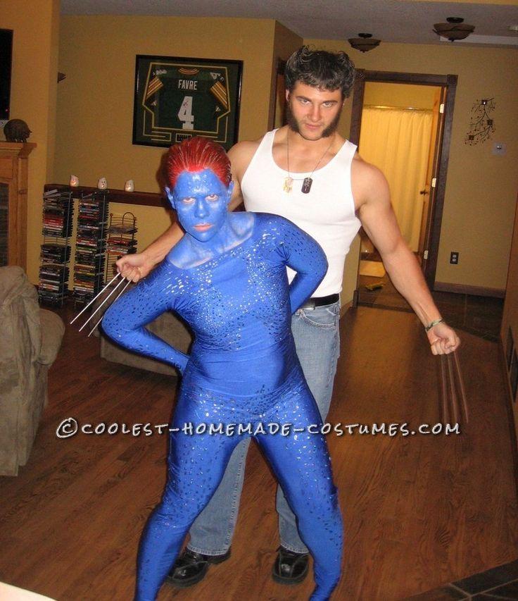 homemade xmen costumes wolverine and mystique halloween costume contest - Mens Couple Halloween Costumes