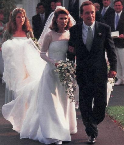 Wedding of Prince Anthony Stanislas Albert Radziwill and Carole Ann Di Falco on 27 Aug 1994 in East Hampton New York and Caroline Kennedy was maid of honor