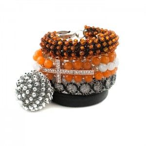 A-Cross Orange HERSTORY Bangles Set