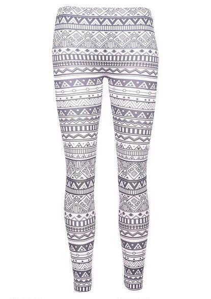 Black & White Tribal Legging - View All Leggings & Yoga - Leggings & Yoga - Bottoms - dELiA*s