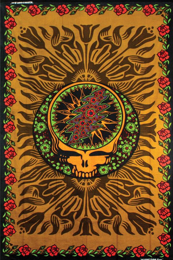 Hippie Tapestries Grateful Dead music band Indian