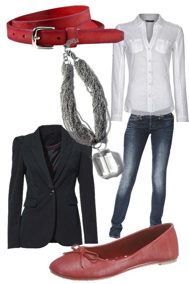 Auf in die Stadt der Liebe. Mit diesem Style seid ihr perfekt angezogen <3 Die roten Accessoires geben dem schicken Look das gewisse Etwas!