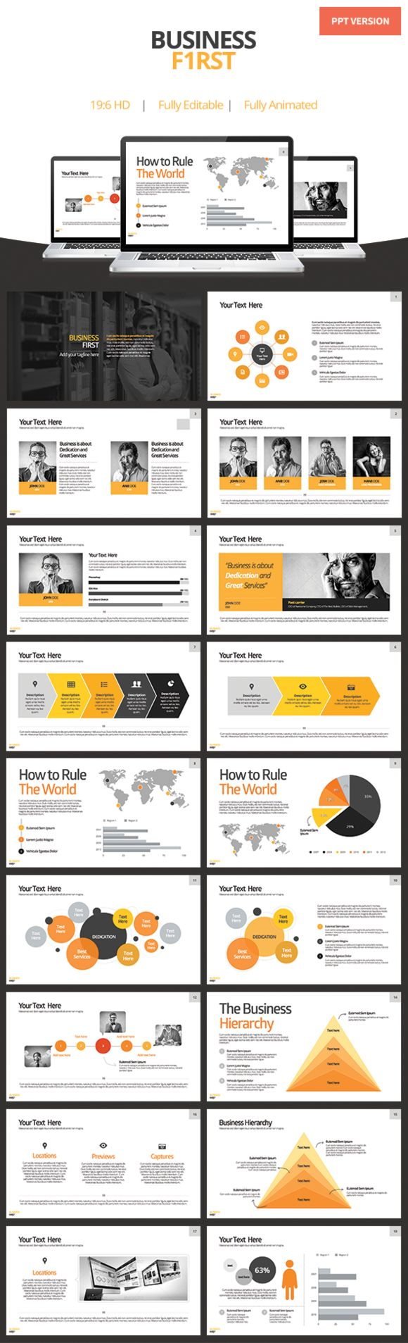 How To Rule The World? Check out Business First - Powerpoint Template by Keynote Market on Creative Market - Only $7.00!!!