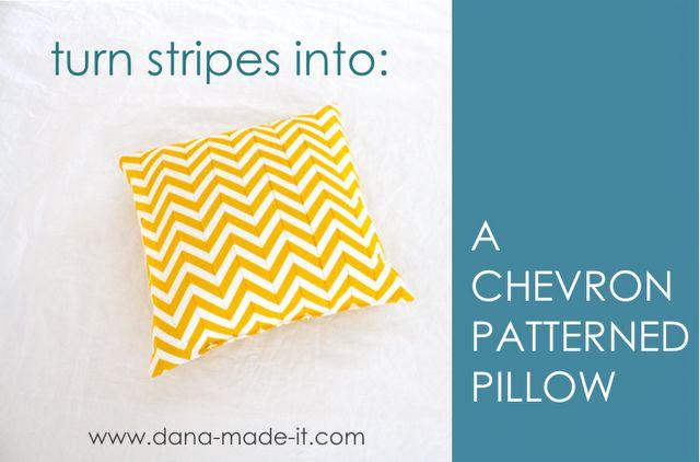 chevron tutorialChevron Patterns, Sewing, Turn Stripes, Pattern Pillows, Pillows Tutorials, Chevron Pillows, Stripes Fabrics, Pillows Pattern, Chevron Stripes