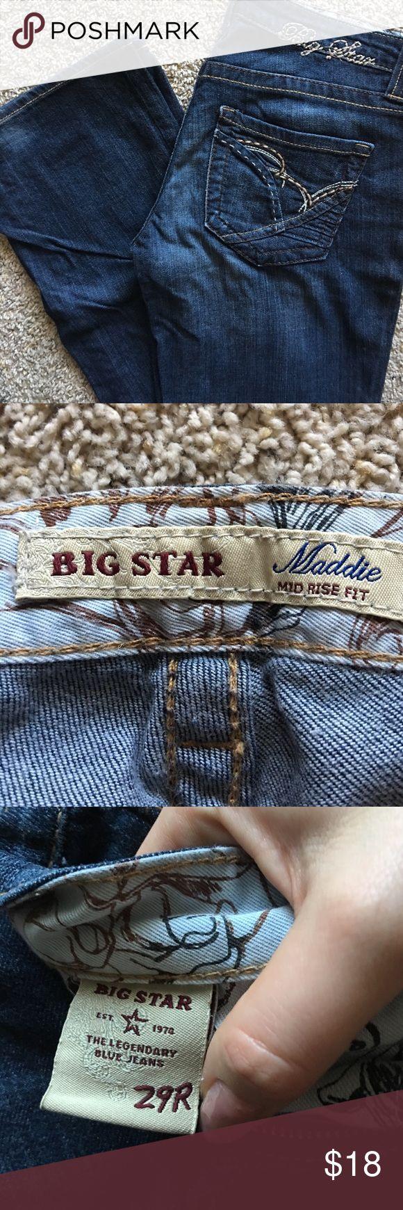 Women's Big Star Maddie mid rise fit Women's Big Star Maddie mid rise fit. 29R Big Star Jeans Boot Cut