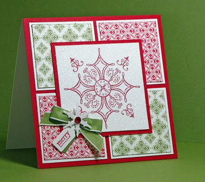Great use for small pieces of Christmas DSP: Christmas Cards, Sketch, Cards Ideas, Papercraft, Cards Christmas, Merry Snowflakes, Stamps Sets, Joy Creations, Paper Crafts