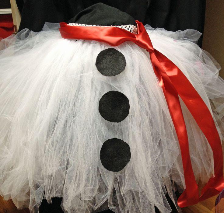 Snowman Christmas Tree Skirt on Etsy BowsBaublesandBeads and RedCarpetTutus.