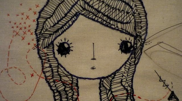 .: Sewing, Montero Embroidery, Leila Montero 02, The Artists, So Pretty, A Tattoo, Leilamontero, Dolls Faces, Crafts