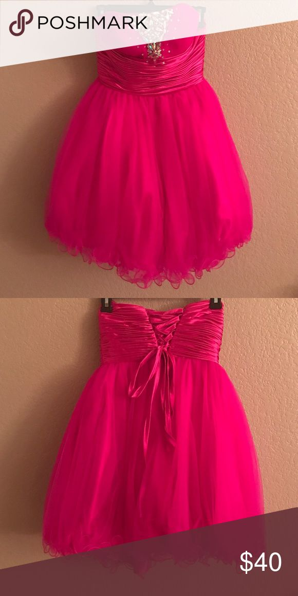 Beautiful Fuschia Pink dress only wore once Like new Dresses Strapless