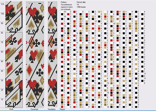 """""""poker"""" pattern 18 around"""