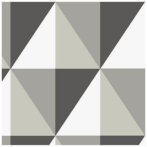 Buy Cole & Son Apex Wallpaper, Black / White / Grey, 93/16052 Online at johnlewis.com