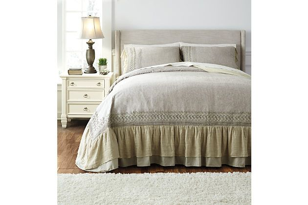 Antique Solid 3-Piece Queen Duvet Cover Set | Ashley Homestore | $349.99