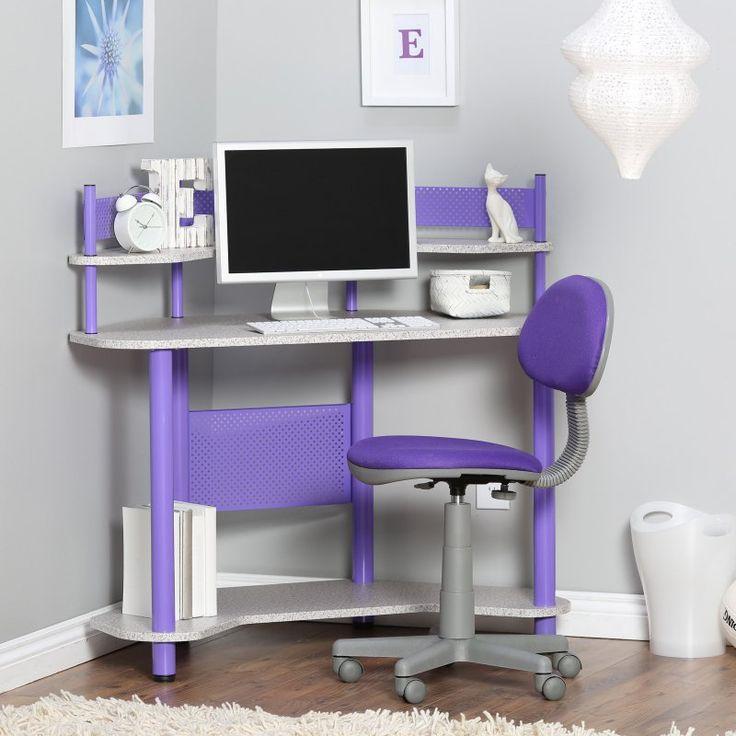 Studio Designs Study Corner Desk - Purple - 55121 PURPLE