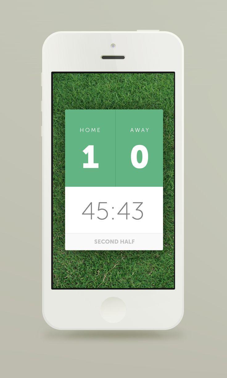 Live Score App | Flat UI Design