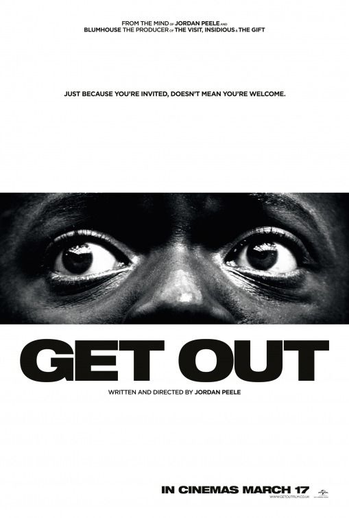 Get Out. 2017. D: Jordan Peele.  To hear the show, tune in to http://thenextreel.com/filmboard/get-out or check out our Pinterest board: http://www.pinterest.com/thenextreel/the-next-reel-the-podcast/  http://www.youtube.com/c/ThenextreelPodcast  https://www.facebook.com/TheNextReel   https://twitter.com/TheNextReel  http://instagram.com/thenextreel  http://www.flickchart.com/tnrfilmboard  http://letterboxd.com/thenextreel