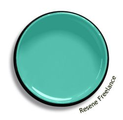 Resene Freelance is an aqua summer green, soft toned and fresh. Try Resene Freelance with deep blues, pastel chartreuses or yellow oranges, such as Resene Zinzan, Resene Fresh or Resene Malarkey. From the Resene The Range fashion colours 18. Latest trends available from www.resene.com/range18. Try a Resene testpot or view a physical sample at your Resene ColorShop or Reseller before making your final colour choice.