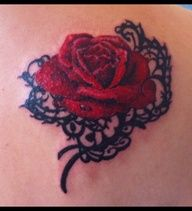 Romantic, would be cute to put wedding/anniversary date above the rose in script lettering. So much better/easier to cover up than the traditional name tattoos!