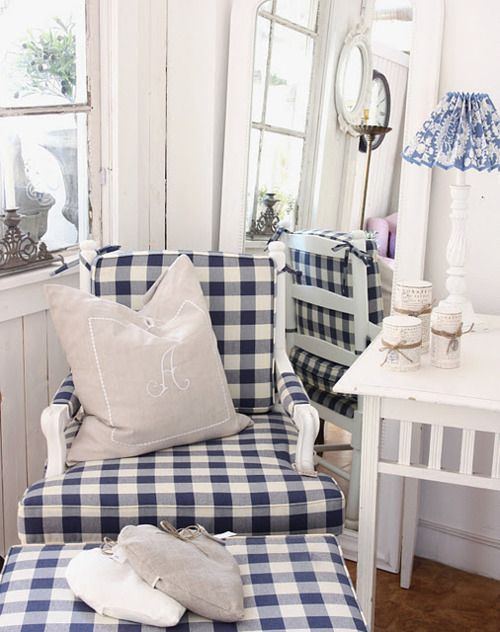 blue & white checks, always fresh!