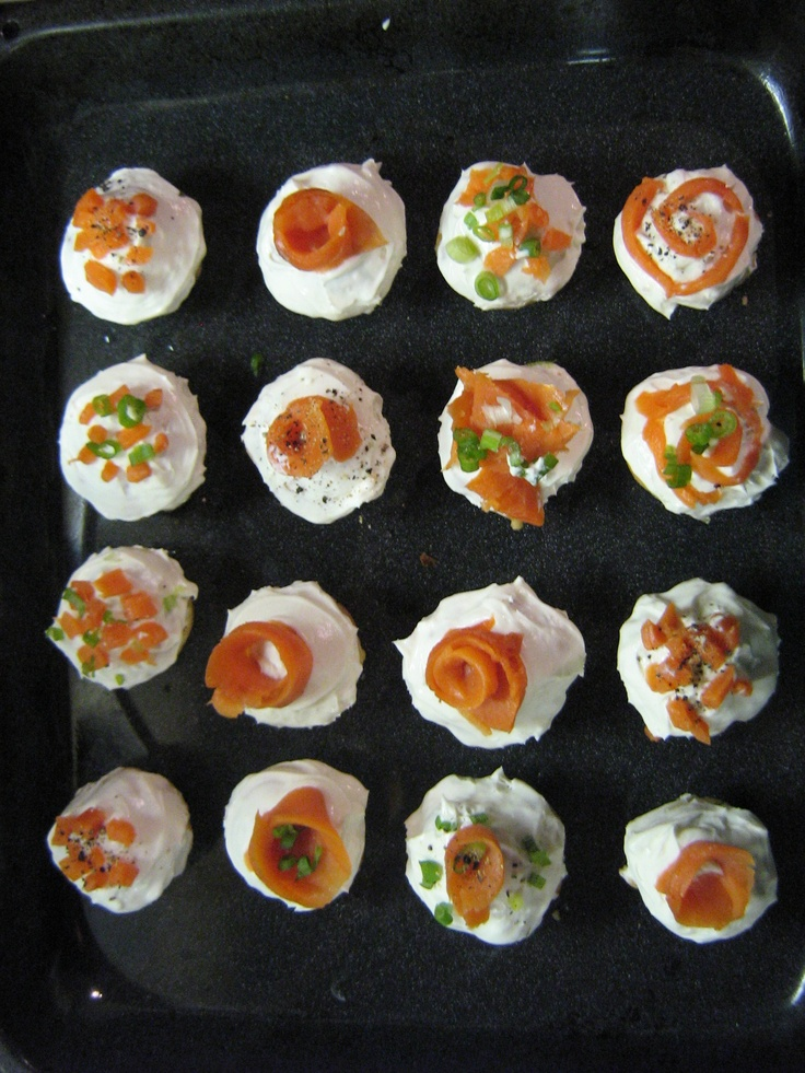 Smoked Salmon Cupcakes - Great Breakfast or Brunch Idea